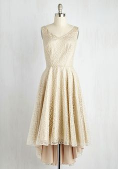 Center of Splendor Dress. This stunning ivory dress will be the locus of everyones focus - and its easy to see why! #white #prom #wedding #bridesmaid #modcloth