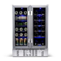 online shopping for 18 Bottle 58 Can Dual Zone Freestanding Wine Beverage Refrigerator NewAir from top store. See new offer for 18 Bottle 58 Can Dual Zone Freestanding Wine Beverage Refrigerator NewAir Wine Coolers Drinks, Wine Chiller, Wine And Beverage Cooler, Beverage Refrigerator, Wine Fridge, Tabletop, Convertible, Wine Dispenser, Beverage Center