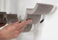étagère design béton industrielle Le béton comme matériau par Bertrand Jayr