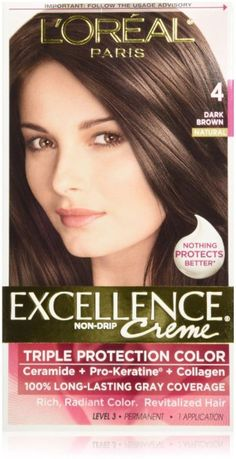 loreal excellence triple protection color creme dark brownnatural 4 pack - Coloration Excellence
