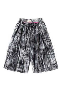 lemlem — Tie Front Culottes in pewter-chic silhouette paired with hand dyed African textiles. It's a win win!