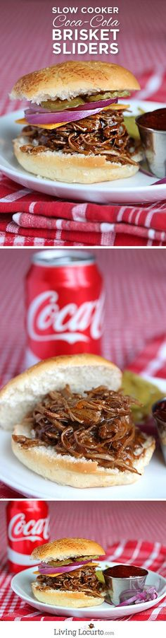 The big game calls for big appetizers. These delicious slow-cooker Coca-Cola Beef Brisket Sliders are great for a football party at home with your family or for tailgating with your friends. Show us your ultimate game day party by repinning this!