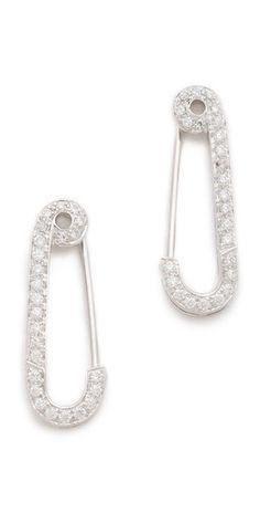 Genevieve Jones Classic Wishing Safety Pin Earrings