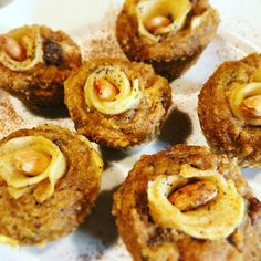 Muffin con rosa di mela