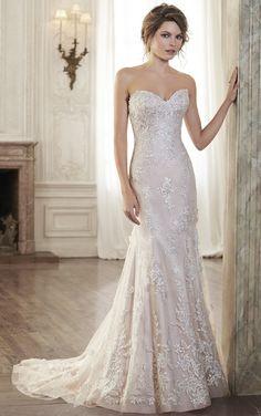 Bridal Gowns,2015 Spring/Fall Bridal Dresses,Sheath Sleeveless Empire waist Floor-length Bridal Gown