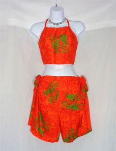 VIN & SUE FASHIONS TAHITI TIE WRAP SARONG BEACH COVER UP ORANGE FISH SEA LIFE #Handmade #CoverUp