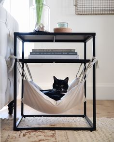 Cat Hammock - Places Like Heaven- Katzen-Hängematte – Places Like Heaven Cat Hammock cat hammock Diy Cat Hammock, Diy Cat Bed, Bedroom Hammock, Hammock Ideas, Hammock Bed, Cat Room, Fabric Scraps, Scrap Fabric, Cat Furniture
