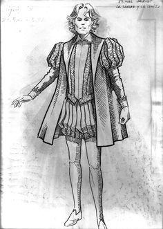 vestuario serie tve Miguel Servet 1988