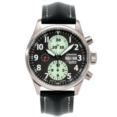 Junkers - Euro Fighter - Day-date function, Luminous hands, markers and chronograph sub-dials. Limited to 1000 pieces Sport Watches, Watches For Men, Men's Watches, Watch Companies, Chronograph, Omega Watch, Knowledge, Mens Fashion, Pilot