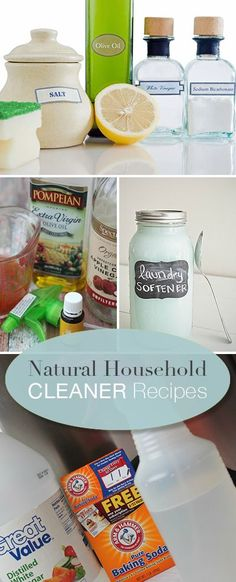 Natural Household Cleaner Recipes • Learn how to make natural cleaners with recipes and directions!