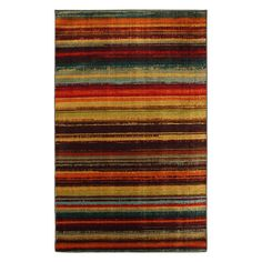 Have to have it. Mohawk New Wave Boho Stripe Print Multicolored Rug $125