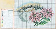prima zi: diagrame goblen - lunile anului Cross Stitch House, Just Cross Stitch, Cross Stitch Flowers, Cross Stitch Charts, Cross Stitch Designs, Cross Stitch Patterns, Cross Stitch Landscape, Embroidery Art, Four Seasons