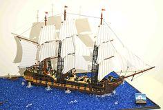 69 Lego Old Ships Ideas – How to build it Lego Pirate Ship, Pirate Ships, Lego Warship, Lego Boat, Lego Age, Big Sea, Amazing Lego Creations, All Lego, Lego Models