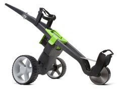 "UK Golf Gear - ""NEW 2014 MODEL"" GO KART ELECTRIC GOLF TROLLEY + BATTERY & CHARGER BLACK/GREEN"
