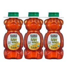 Kirkland Signature Raw Organic Honey Bear 24 oz, 3-pack
