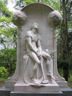 Henry Villard Monument, Sleepy Hollow Cemetery, Tarrytown NY, Karl Bitter, sculptor.