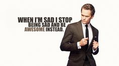 "es könnte so einfach sein....  Neil Patrick Harris as Barney Stinson from ""How I Met Your Mother"" being awesome in a suit."