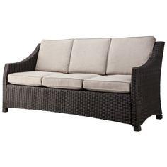 Threshold™ Belvedere Wicker Patio 3 Person Sofa