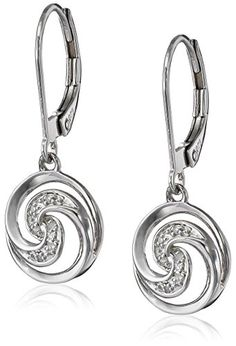 Sterling Silver Swirl Diamond Earrings (0.03 cttw  I-J Color  I2-I3 Clarity).More info for small stud earrings;ear earrings;beaded earrings;amethyst earrings;glass earrings could be found at the image url.(This is an Amazon affiliate link and I receive a commission for the sales)