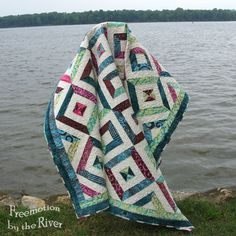 Petunia Strings quilt by Freemotion by the River