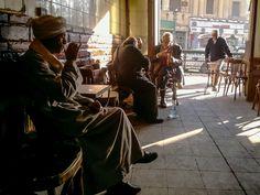 Cafe at Cairo - Coffee shop at Azhar street, at Cairo.