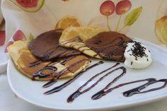 Tortitas Bicolor con chocolate y nata