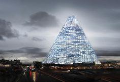 Modell des Tour Triangle (Dreiecksturm) vom  Schweizer Architekturbüro Herzog &...