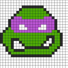 Donatello Perler Bead Pattern | Bead Sprites | Characters Fuse Bead Patterns
