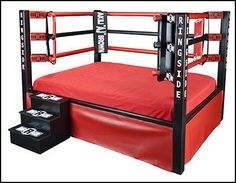 Wrestling Bedroom Decor Captivating A Wrestling Ring Bed No One Would Sleepjust Play P  My Dream Inspiration Design