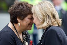 Hillary New Zealand Nov 4 2010 Hillary receives a Hongi Maori Greeting
