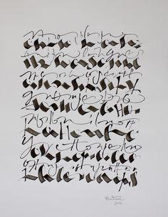 Christophe Badani. Abstract Calligraphy.