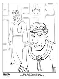 The Rich Young Man Coloring Page Rich Young Ruler Coloring Pages Color