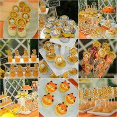 gardfield birthday dessert table  checkour IG : TIWI_IBUNYAFALIH contact: wa/line 08572057175