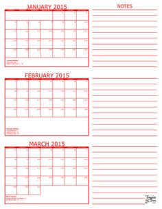 Three Month Calendar Printable Template Trove   Calendar Template 2016