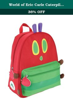 World of Eric Carle Caterpillar Backpack Canvas Toy. Based on Eric Carle's most loved storybook characters, The Very Hungry Caterpillar and Friends bags are designed to meet the needs of very busy, hungry preschoolers! Made of safe, easy-to-clean materials, they make learning, traveling and snack time easy and fun! Eric Carle is the most celebrated children's author / illustrator of all time, with a book sold every 30 seconds and 88 million books sold worldwide. For the first time ever…