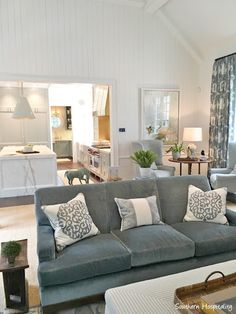 Decor Inspiration: Traditional Blue and White Kitchen in 2017 Southeastern Designer Showhouse & Gardens - Hello Lovely