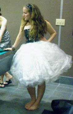 plastic bag skirt (duct tap corset?)