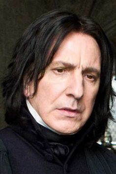 Alan Rickman as Severus Snape.