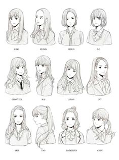 ideas hair drawing reference anime art for 2019 Hair Reference, Art Reference Poses, Design Reference, Face Drawing Reference, Drawing Poses, Manga Drawing, Hair Styles Drawing, Anime Hair Drawing, Drawing Ideas