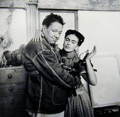 Nickolas Muray - Frida with Diego and Gas Mask | From a unique collection of photography at http://www.1stdibs.com/art/photography/