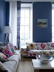 Fiona Douglas via Design Sponge | bold, floral textiles