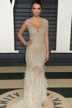 Emily Ratajkowski In Jonathan Simkhai - At the Vanity Fair Oscar Party