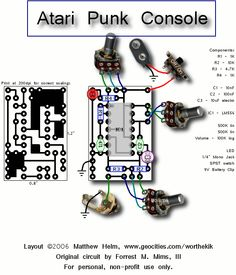 A Nicely done and easy to understand schematic of the Atari Punk Console.
