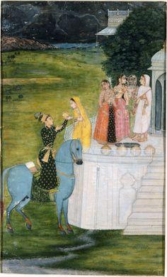 An Encounter At A Well. 1745 Kishingarh, Rajasthan, India
