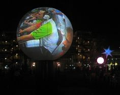 Video balloon 240 ° (Japan agency site) Impact projection with our Video-Balloons spherical screens - MGLOBAL JAPAN