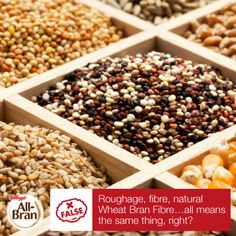 The term 'roughage' is often used interchangeably with 'fibre', and can refer to either soluble or insoluble fibre. #NaturalWheatBranFibre however, like that found in Kellogg's All-Bran, is an example of insoluble fibre, and is the best kind of cereal fibre for promoting regularity.