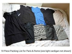 My Packing List for Paris and Rome in the summer - find out what worked and what items I want to replace! http://travelfashiongirl.com/my-10-piece-packing-list-for-10-days-in-paris-and-rome-in-summer/