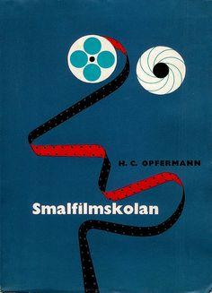 "Opfermann - Smalfilmskolan (2)  ""The School of Narrow Film""  Cover by: Rolf Lagerson  Printed: 1955"
