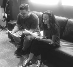 Bryan and Mattie. Mattie is a 13 year old and she is gonna be a feature on Bryans special track on his ep coming later this year.