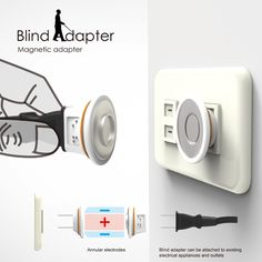 Blind Adapter - Magnetic Adapter for Sockets by Ching-Tzu Tsai & Xien-An Chen